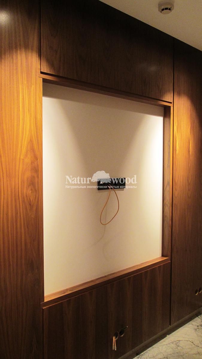 Панели в шпоне цвет натуральный орех американский